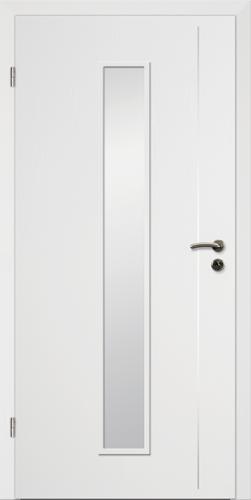Designtürelement Weißlack CPL mit Edelstahllisene 5 LA 4