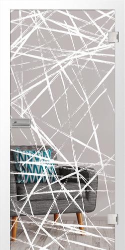 Ganzglastür Brush 3 Motiv matt micromattierung