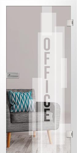 Ganzglastür Office micromattierung