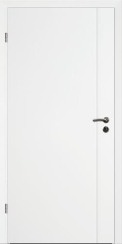 Designtürelement Weißlack 9016 mit Rille R B6
