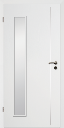 Designtürelement Weißlack CPL mit Edelstahllisene 5 LA 5
