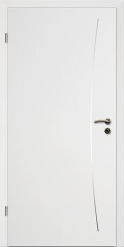 Designtürelement Weißlack CPL mit Edelstahllisene 9