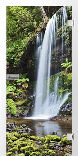 Ganzglastür Wasserfall fotoprint/fusion