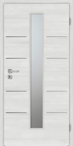 Designtürelement Authentic Grigio CePaL mit Edelstahllisene C733 LA4M