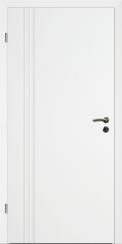 Designtürelement Weißlack 9016 mit Rille R B4
