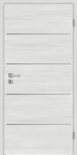 Designtürelement Authentic Grigio CePaL mit Edelstahllisene C730