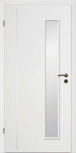 Designtürelement Weißlack CPL mit Edelstahllisene 4 LA 3