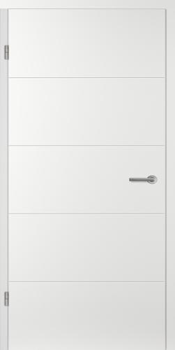 Designtürelement Weißlack EPC mit Rillenfräsungen AL14