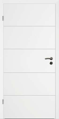 Designtürelement Weißlack 9016 mit V-Fuge V B3