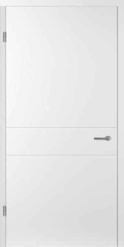 Designtürelement Weißlack EPC mit Rillenfräsungen VV14