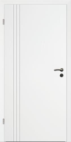 Designtürelement Weißlack 9016 mit V-Fuge V B4