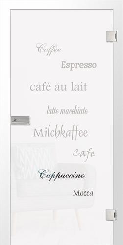 Ganzglastür Cafe 2 Motiv klar