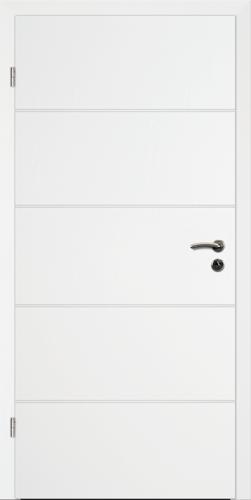Designtürelement Weißlack 9016 mit Rille R B3